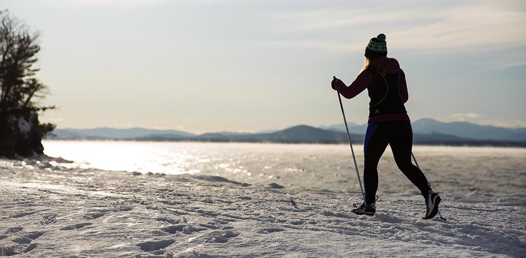 Nordic skiing poles