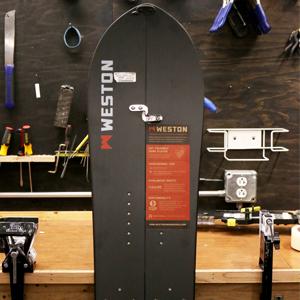 A photo of the weston carbon splitboard