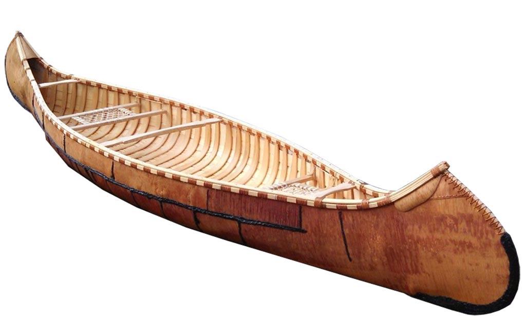 An image of a birchbark canoe