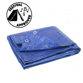 Plastic Tarp - Blue Ripstop Poly 10x12