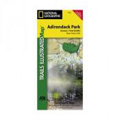 National Geographic - Saranac/Paul Smiths Map