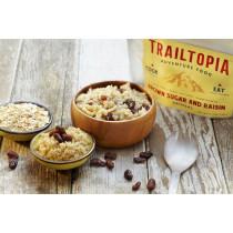 Trailtopia Food - Brown Sugar Raisin Oatmeal