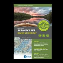 Green Goat Maps - Saranac Lake Boating & Fishing Map