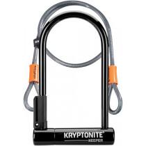 "Kryptonite - Keeper U-Lock - 4 x 8"" with Cable"