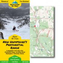 Backcountry Ski Maps - NH Presidential Range Ski Map