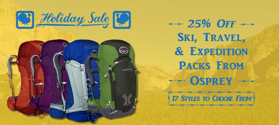 25% Off Select Osprey Packs