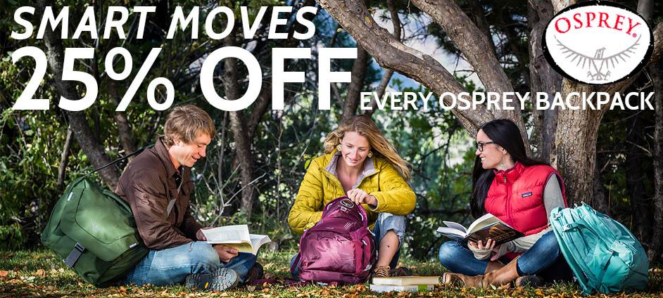 25% OFF Osprey Backpacks