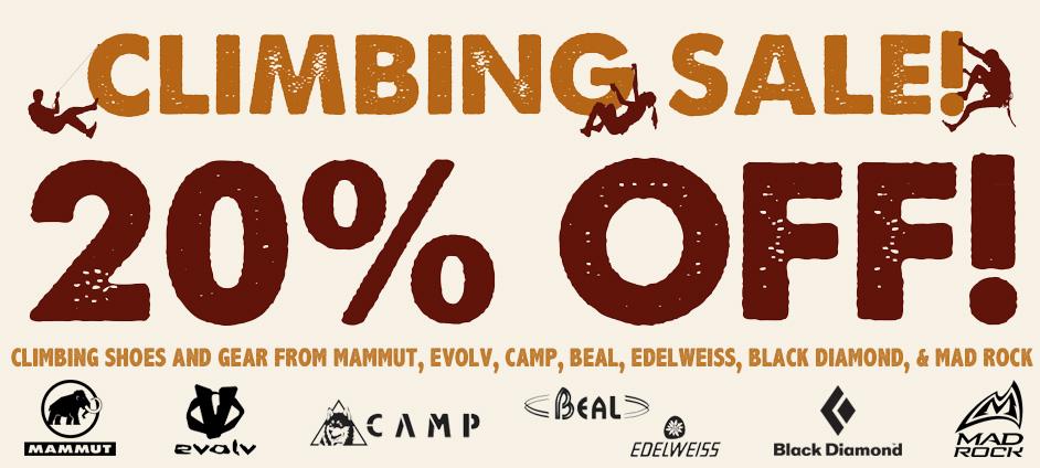20% OFF Climbing Gear
