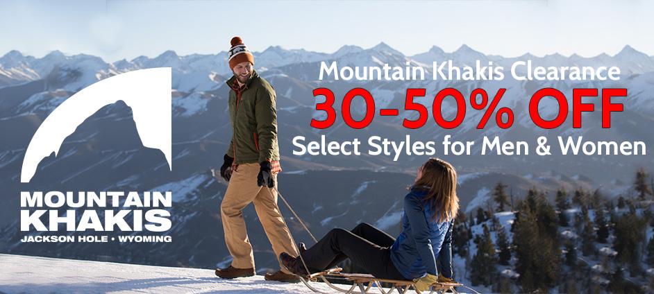 Mountain Khakis Clearance