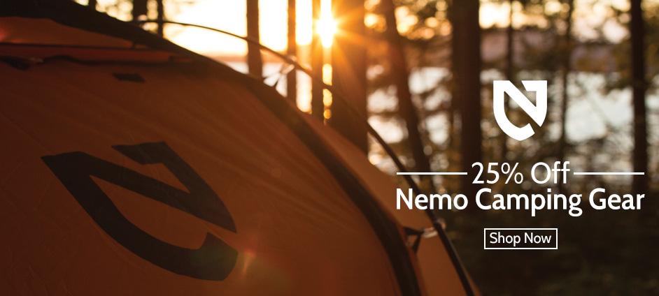 25% OFF Nemo Camping Gear