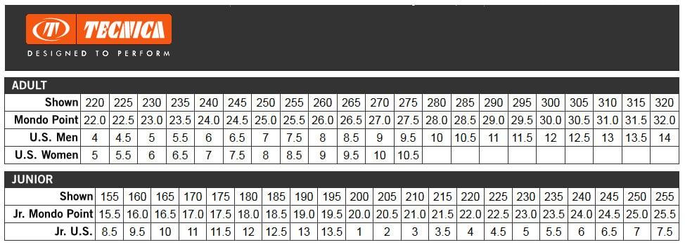 Compare Ski Boot Size And Shoe Size